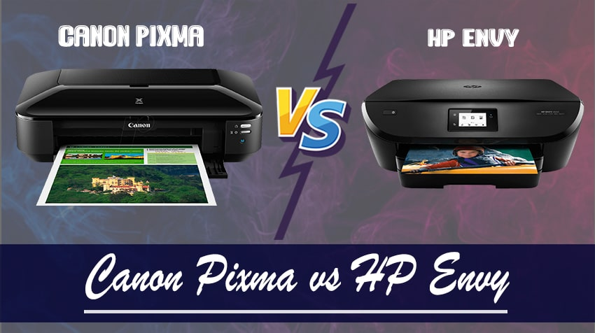 difference between canon pixma and hp envy