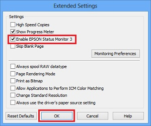 How to Disable Epson Monitor Status
