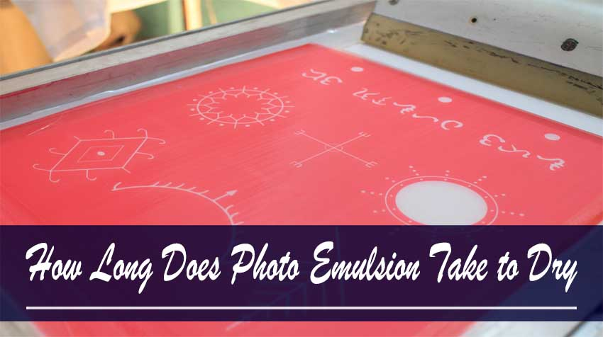 how to dry emulsion quickly