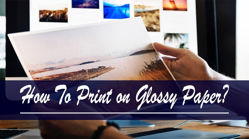 how to print on glossy paper canon