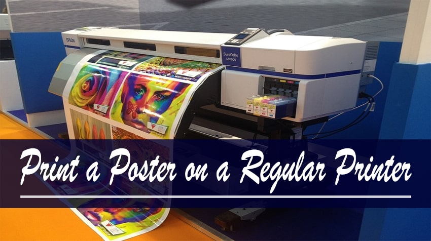 how to print posters at home