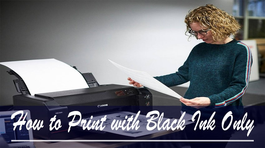 how to print without colour ink epson
