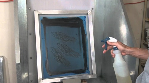 how to dry emulsion on screen
