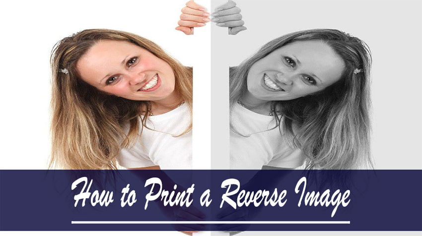 how to print a mirror image