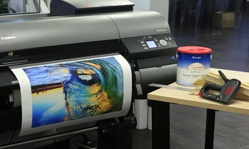 how to print on canvas with inkjet printer