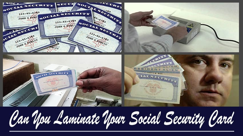 can you legally laminate your social security card