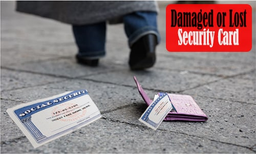 Replacement for Damaged or Lost Security Card