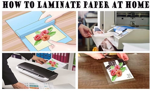 how to laminate paper at home with plastic wrap