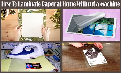 how to laminate at home with an iron