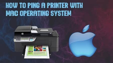 how to ping a printer on a mac