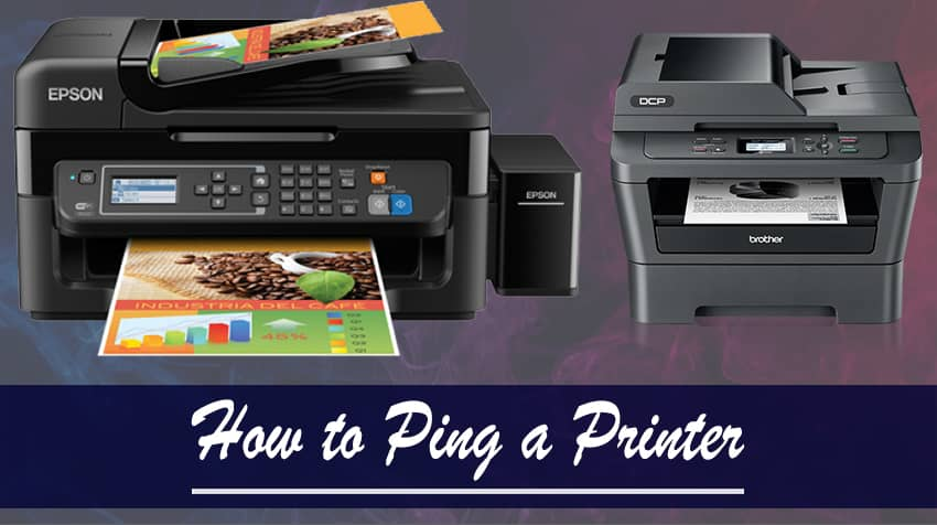 how to ping a printer by name
