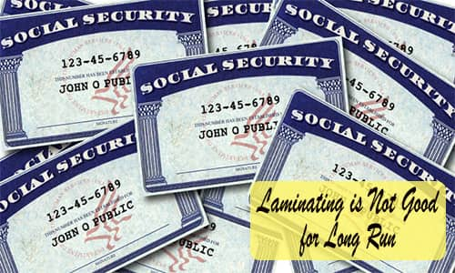 Can You Laminate Your Social Security Card