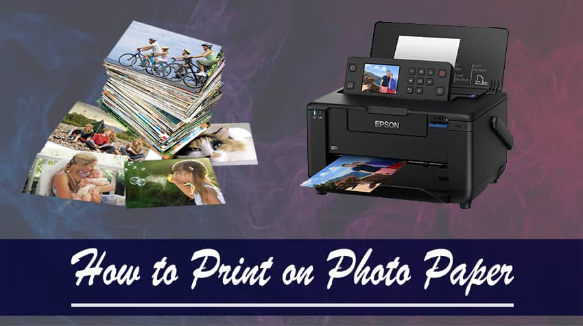 how do you use glossy photo paper in a printer